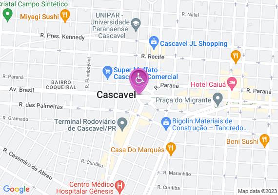 Mapa Na praça da Bíblia indo em direção ao terminal não tem