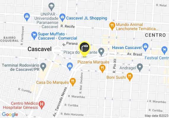 Mapa Devido queima de 2 lâmpadas rua muito escura , próx Irani