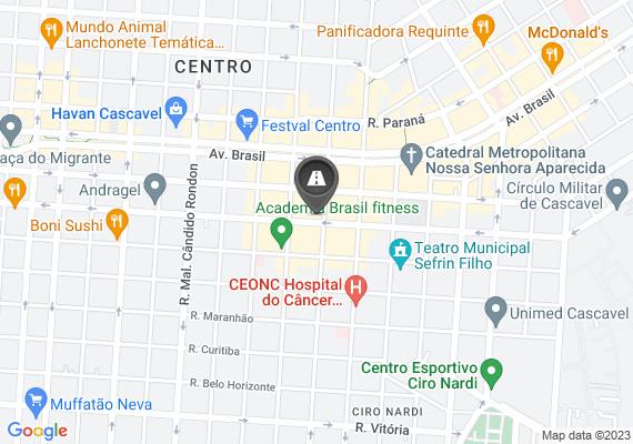 Mapa Buraco na via entre a paraná e a eng rebouças