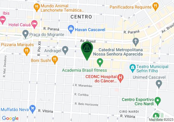 Mapa Manutenção de escorregador da Praça Wilson Joffre que