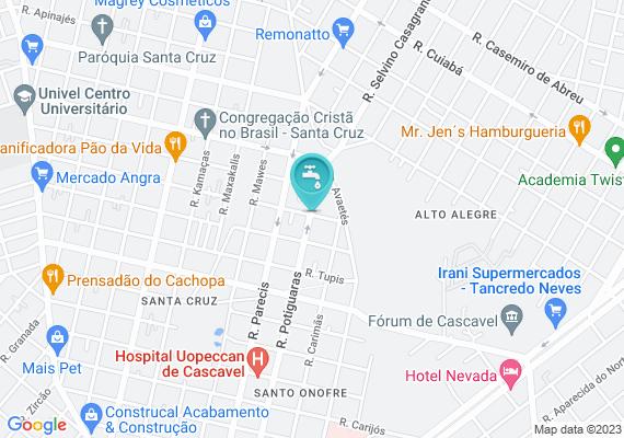 Mapa Boca de lobo entupida em frente ao número 1648 na rua