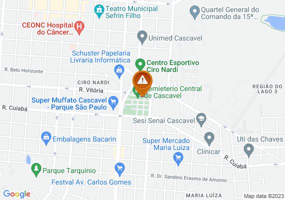 Mapa Andarilhos intimidando as pessoas no cemitério central,