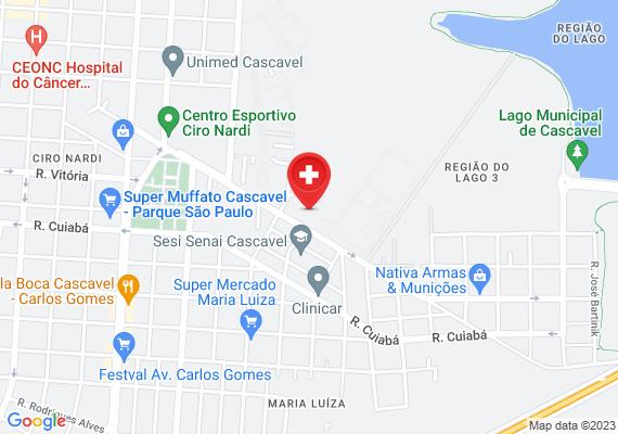 Mapa Olha a situação do ginásio Sérgio  M. Festugato, caindo