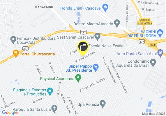 Mapa Lâmpada queimada rua Júlio Boaventura tozzo esquina com