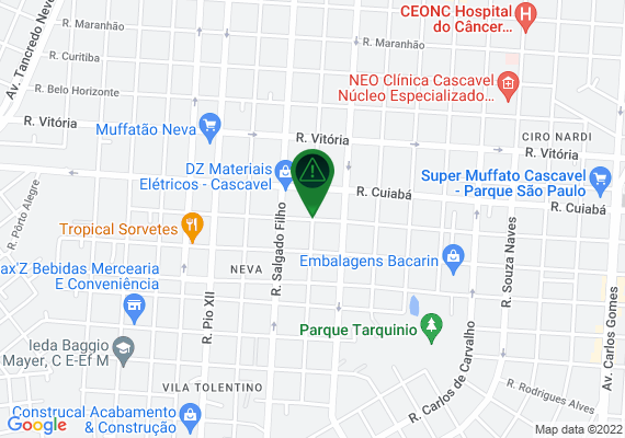 Mapa Rua Presidente Bernardes, esquina com a Rua Sérgio Djalma