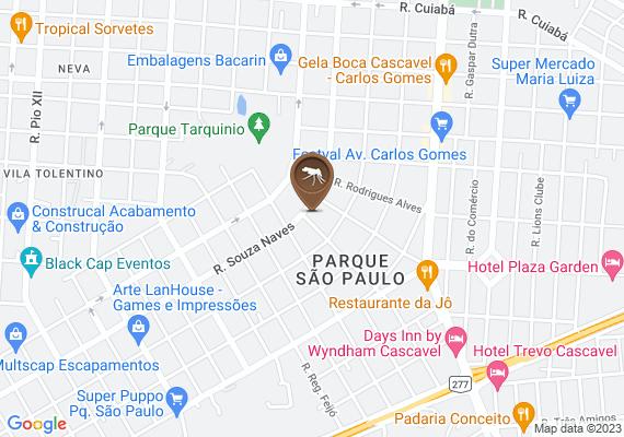 Mapa Parque São Paulo está infestado de mosquitos da dengue.