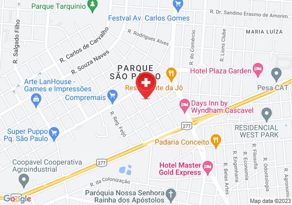 Mapa Demora do atendimento na unidade de saúde do Parque São
