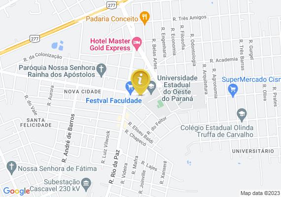 Mapa Falta de sinização horiOntal em via pública em frente a