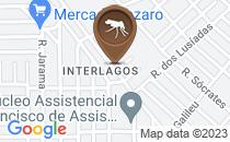 Mapa descarte de lixo em frente ao CMEI Gracinda Rocha