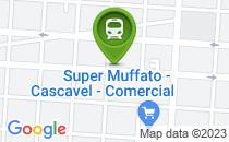 Mapa Cratera na frente do clube Comercial