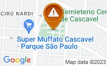 Mapa estacionamento vetado pela prefeitura
