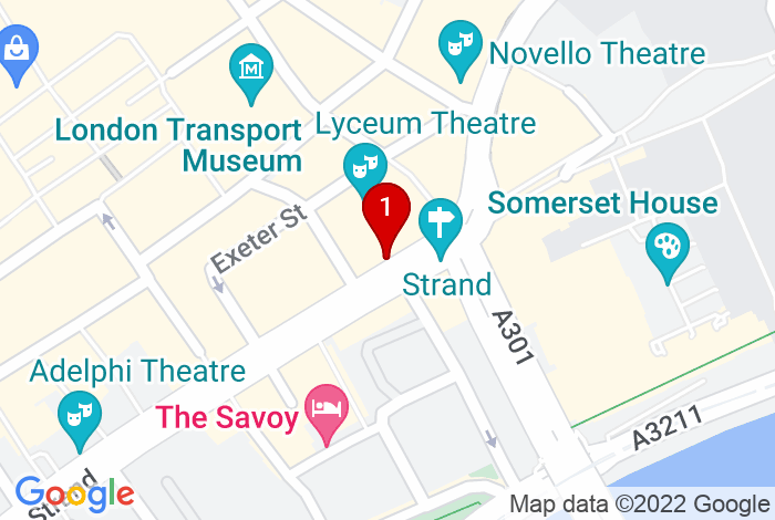 Google Map of Burleigh House, 357 Strand, London WC2R 0HS