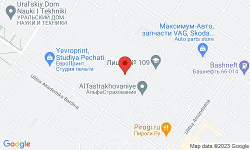 Map for Академика Бардина, дом 46 95000 Екатеринбург Россия