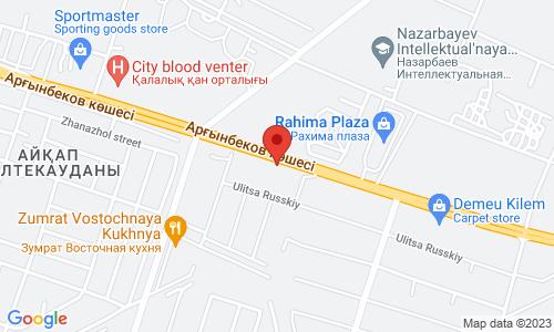Map for Нурсат, 25/7 160000 Шымкент Казахстан