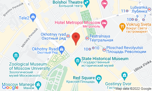 Map for ул. Охотный Ряд, 2 109012 Москва Российская Федерация