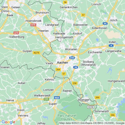 Karte von Aachen und Umgebung
