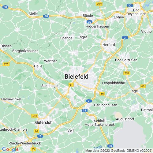 Karte von Bielefeld und Umgebung