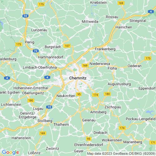Karte von Chemnitz und Umgebung