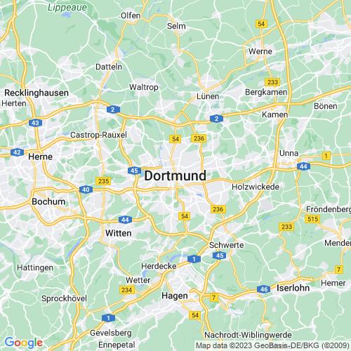 Karte von Dortmund und Umgebung
