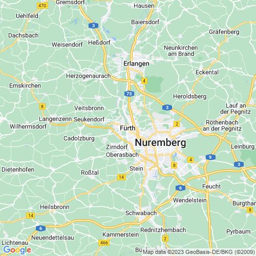 Karte von Fürth und Umgebung