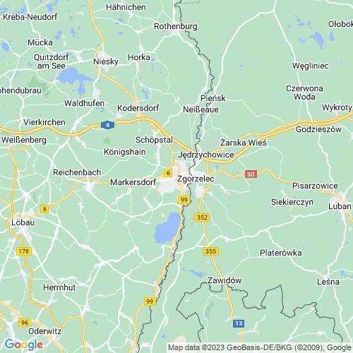 Karte von Görlitz und Umgebung