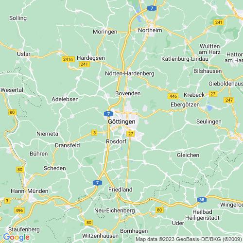 Karte von Göttingen und Umgebung