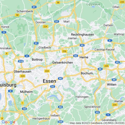 Karte von Gelsenkirchen und Umgebung