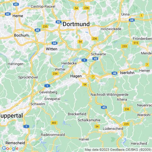 Karte von Hagen und Umgebung