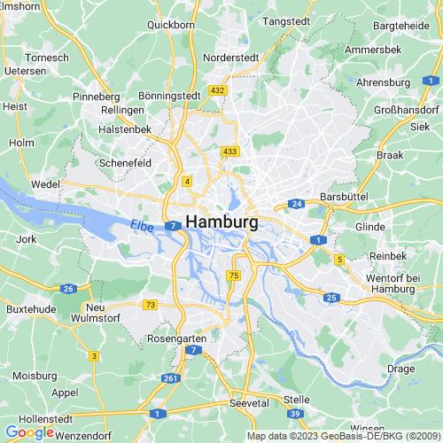 Karte von Hamburg und Umgebung