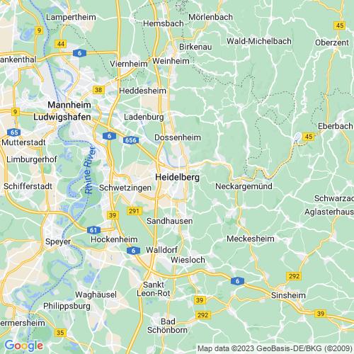Karte von Heidelberg und Umgebung