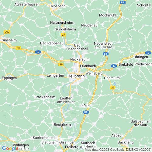 Karte von Heilbronn und Umgebung