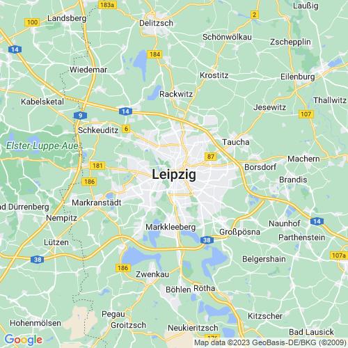 Karte von Leipzig und Umgebung