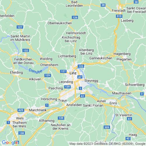 Karte von Linz und Umgebung