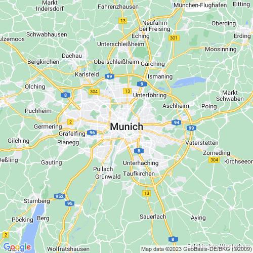 Karte von München und Umgebung