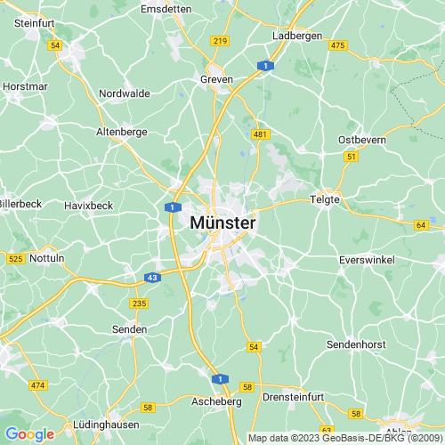 Karte von Münster und Umgebung