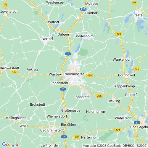 Karte von Neumünster und Umgebung