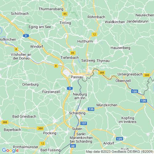 Karte von Passau und Umgebung