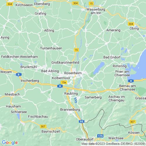 Karte von Rosenheim und Umgebung