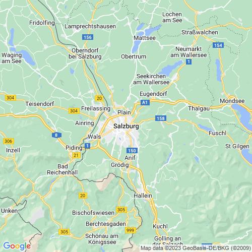 Karte von Salzburg und Umgebung