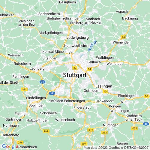 Karte von Stuttgart und Umgebung
