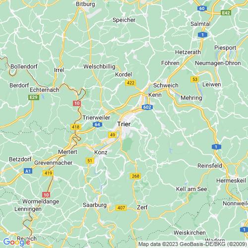 Karte von Trier und Umgebung