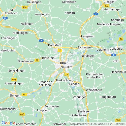 Karte von Ulm und Umgebung