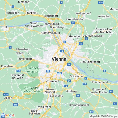 Karte von Wien und Umgebung