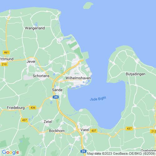 Karte von Wilhelmshaven und Umgebung