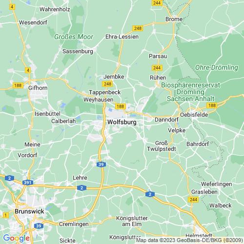 Karte von Wolfsburg und Umgebung