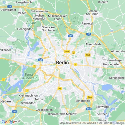Karte von Berlin und Umgebung