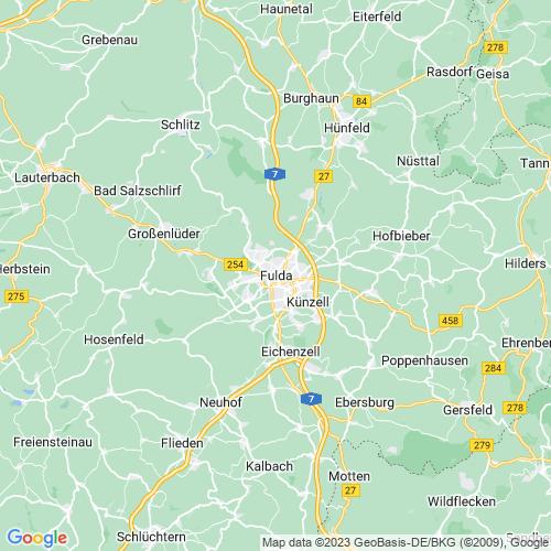 Karte von Fulda und Umgebung