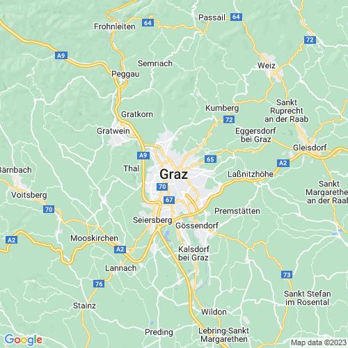 Karte von Graz und Umgebung