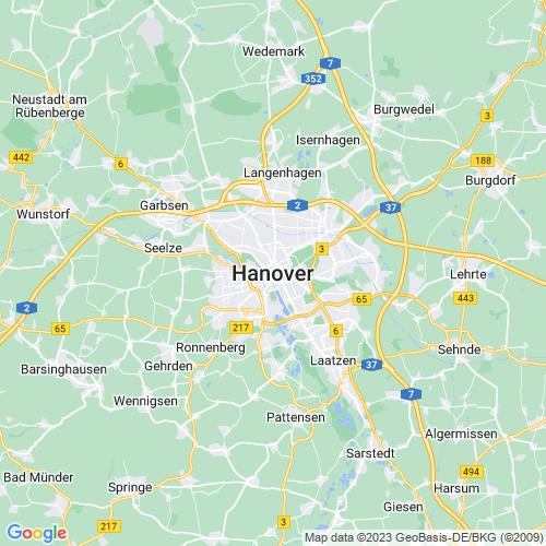 Karte von Hannover und Umgebung