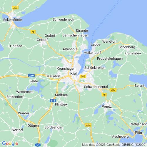 Karte von Kiel und Umgebung